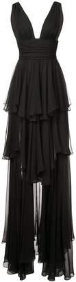 Caroline Constas tiered skirt dress