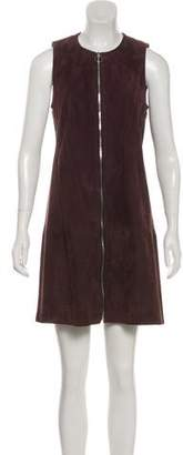 Balenciaga Leather Sleeveless Mini Dress