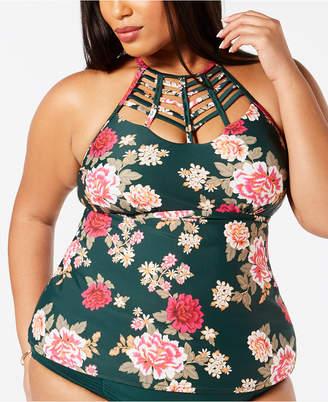 1d515384ca6 Raisins Curve Trendy Plus Size Juniors  Maiko Strappy Tankini Top Women  Swimsuit