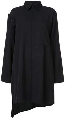 Yohji Yamamoto concealed front coat