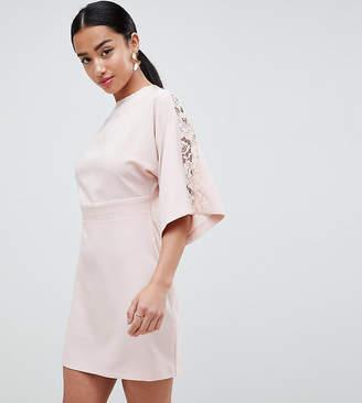 Asos DESIGN Petite lace insert kimono mini dress