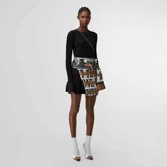 Burberry Tailored Hem Rib Knit Wool Mohair Dress