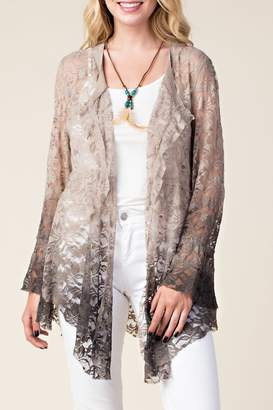 Vocal Apparel Ombre Lace Cardigan