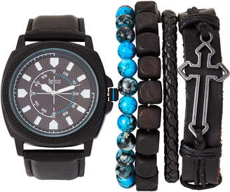 American Exchange MST5567 Black Watch & Bracelet Set