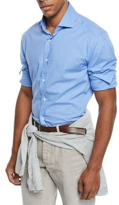 Brunello Cucinelli Men's Solid Dress Shirt