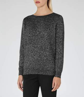 Reiss Luli Metallic V-Back Jumper