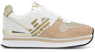 Emporio Armani flatform logo sneakers