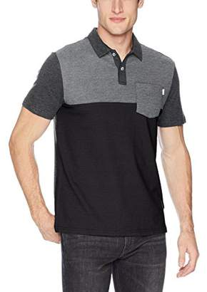 Calvin Klein Men's Short Sleeve Color Block Polo Shirt with Pocket