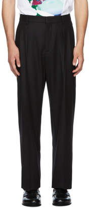 Valentino Black Undercover Edition Ninety Pleated Trousers