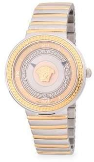 Versace Logo Stainless Steel Bracelet Watch