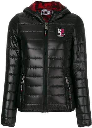 Plein Sport quilted hooded jacket