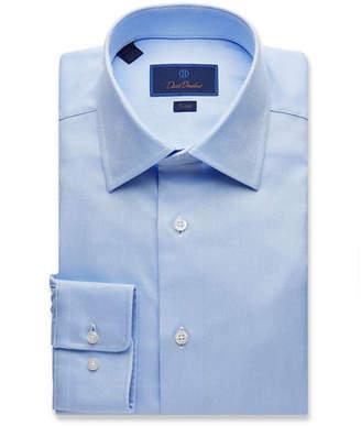 David Donahue Men's Trim-Fit Royal Oxford Dress Shirt