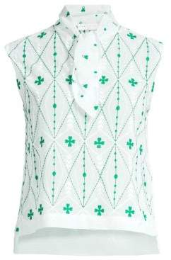 Sandro H18 Maylee Sleeveless Print Top