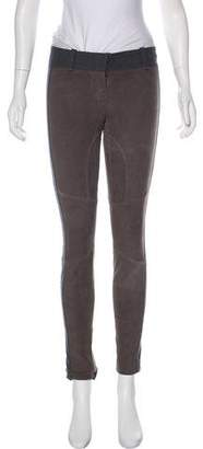Brunello Cucinelli Leather Skinny Pants