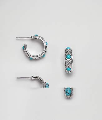 Sacred Hawk 2 pack hoop earrings