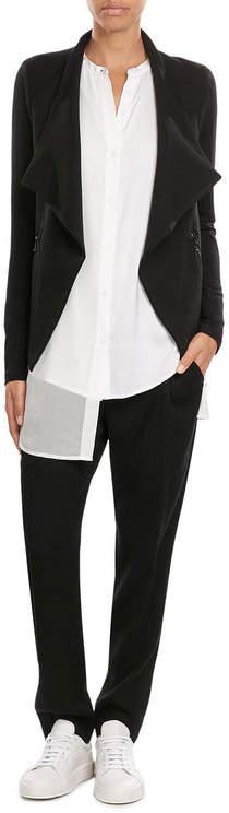 DKNYDKNY Silk Blouse with Asymmetric Hem