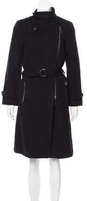 Barbara Bui Asymmetrical Wool Coat