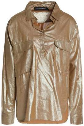 Antik Batik Metallic-Coated Cotton Shirt
