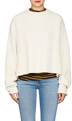 Proenza Schouler Women's Side-Slit Wool-Blend Crop Sweater - Offwht