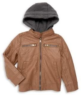 Urban Republic Little Boy's & Boy's Hooded Faux-Leather Jacket