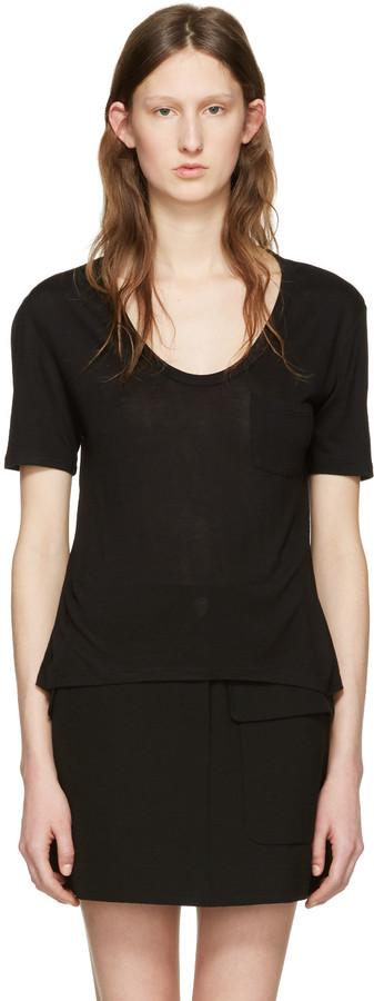 Alexander WangT by Alexander Wang Black Jersey Pocket T-Shirt