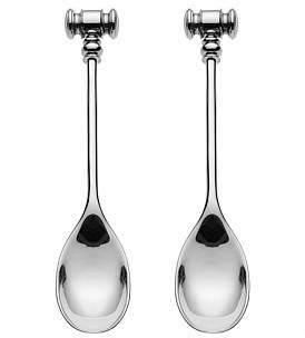 Alessi Dressed Set Of 2 Egg Openers