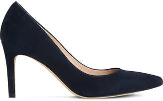 LK Bennett Floret suede court shoe