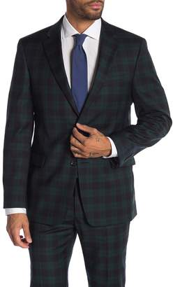 Tommy Hilfiger Green Navy Tartan Two Button Notch Lapel Classic Fit Suit Separates Jacket
