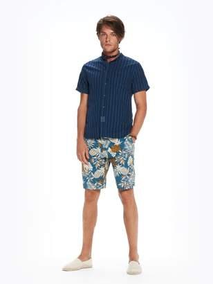 Scotch & Soda Collarless Garment Dyed Shirt Regular fit