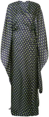 Vionnet printed maxi wrap dress