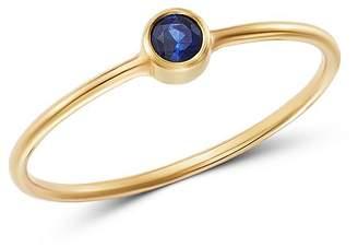 Chicco Zoë 14K Yellow Gold Blue Sapphire Bezel-Set Ring