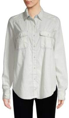 Free People Bandana Bandit Paisley Button-Down Shirt