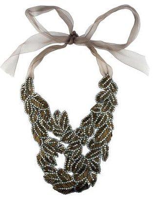 Vera Wang Crystal & Bead Bib Necklace $325 thestylecure.com