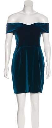Nicholas Velvet Off-The-Shoulder Mini Dress w/ Tags