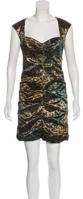 Nicole Miller Printed Sleeveless Mini Dress