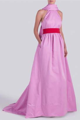 Rosie Assoulin That's A Blow Pop Halter Gown