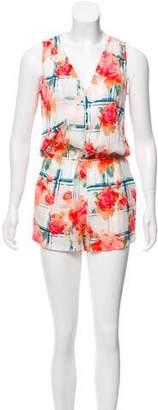 Rebecca Minkoff Floral Silk-Blend Romper