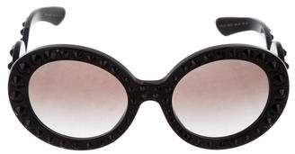 6925007e421a ... usa pre owned at therealreal prada embellished baroque sunglasses 81278  3cb5b