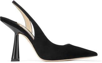 Jimmy Choo FETTO 100 Black Suede Pointed Toe pumps