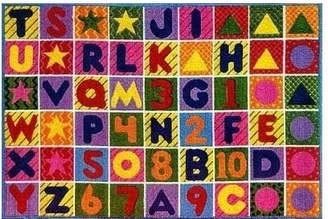 Fun Rugs Supreme Numbers and Alphabet Area Rug Rug