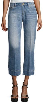 MICHAEL Michael Kors Cropped Straight-Leg Jeans $135 thestylecure.com
