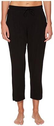 Donna Karan Modal Spandex Jersey Capri Pants