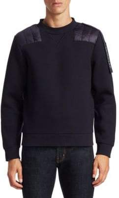 Moncler C Cotton Quilted Panel Sweatshirt