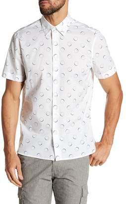 Perry Ellis Short Sleeve Half Circles Print Regular Fit Shirt