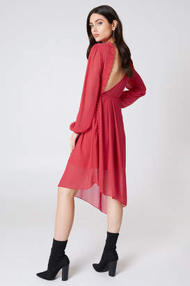 Na Kd Trend Asymmetric Cut Open Back Dress