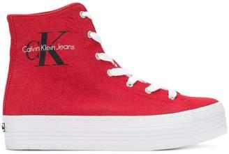 Calvin Klein Jeans flatform hi-top sneakers