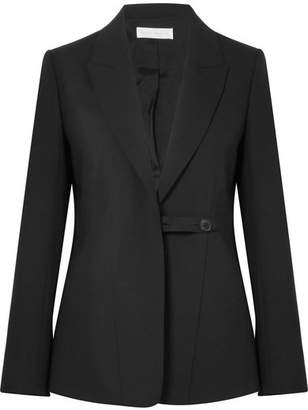 Victoria Beckham Wool And Mohair-blend Blazer - Black