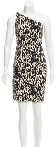 MICHAEL Michael KorsMichael Kors Abstract One-Shoulder Dress