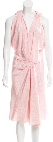 Balenciaga Balenciaga Silk Draped Dress