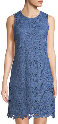 Karl Lagerfeld Paris Sleeveless Lace Sheath Dress